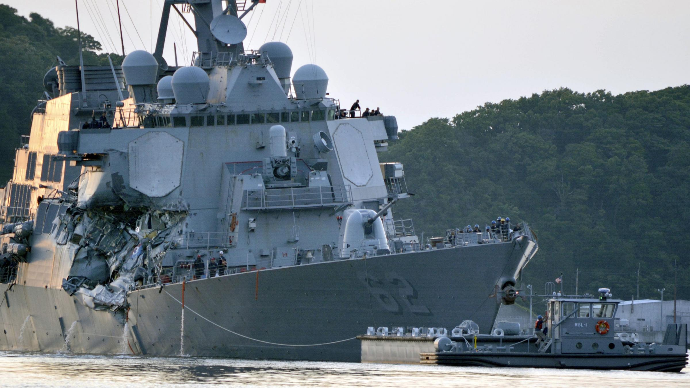 US Navy chief pledges full probe into deadly destroyer collision